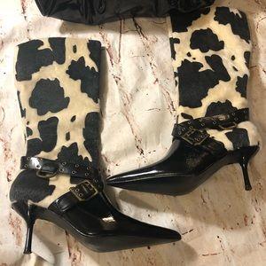 Colin Stuart Black and White Boots